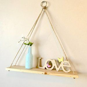 Hanging Rope Shelf-24""